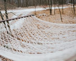 white net on brown field during daytime