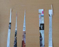 Armbänder aus Papierperlen